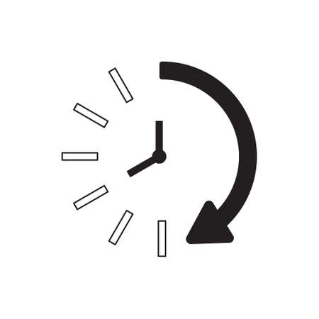 Time icon. Time and watch, timer symbol. UI. Web. Logo. Sign Flat design App Stock. Passage of time icon. Eps 10