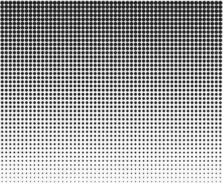 Linear halftone pattern. Circles, speckles, polka dot background pattern. Eps 10
