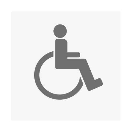 Wheelchair disabled icon, Vector illustration isolated. Vector art.