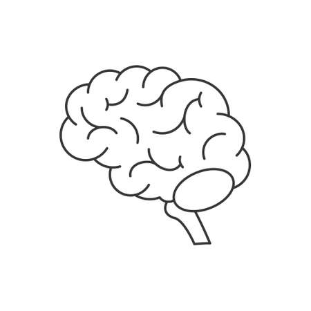 Brain icon isolated on white background. Brain icon in trendy design style. Brain vector icon modern and simple flat symbol for web site, mobile, logo, app, UI. Brain icon vector illustration, EPS10.