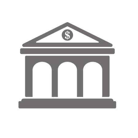 Bank symbol icon. Graphic elements for your design. Money icon.