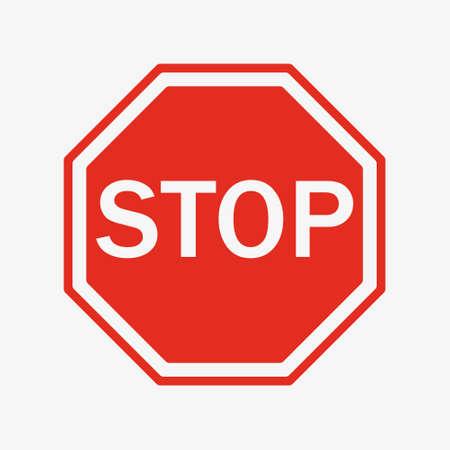 Vektor-Stopp-Schild-Symbol. flacher Stil. rotes Stoppschild für Ihr Website-Design, Logo, App, Benutzeroberfläche. Verkehrszeichen stoppen. Verkehrsordnungswarnung Stoppsymbol. Logo