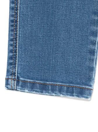 Blue jeans fabric. Denim jeans texture or denim jeans background. Denim jeans for fashion design Banque d'images
