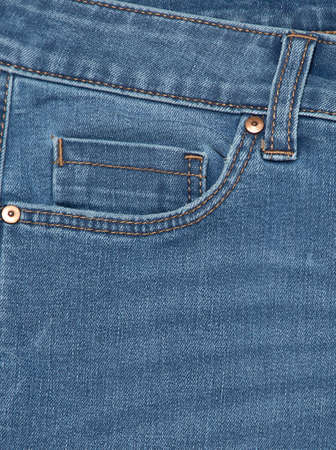 Blue jeans . Detail of vintage blue jeans texture with pocket.Pocket on jeans denim fashion background.