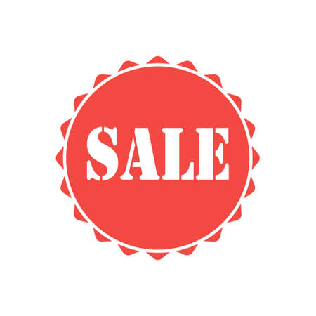 Sale icon isolated on white background. Vector illustration.