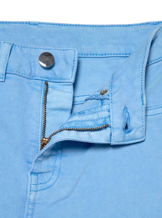 Save Download Preview Blue jeans with zipper. Denim jeans texture or denim jeans background.
