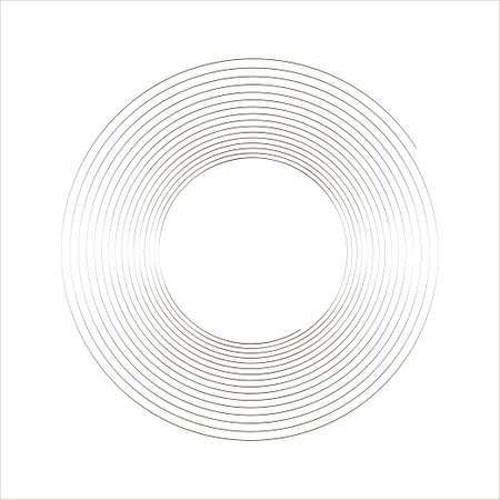Lines in Circle Form. Spiral Vector Illustration. Technology round. Abstract Geometric shape. Striped border frame for image