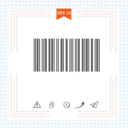 Barcode icon. Illustration on white background.