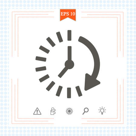Time icon. Time and watch, timer symbol. UI. Web. Logo. Clock sign. 24 hours time icon. Watch symbol. Classic flat style. Simple 24 hours icon. Vector