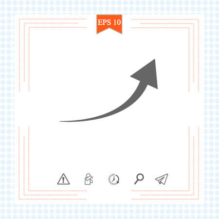 black arrow icon on white background. flat style. arrow icon for your web site design, logo, app, UI. arrow indicated the direction symbol. curved arrow sign