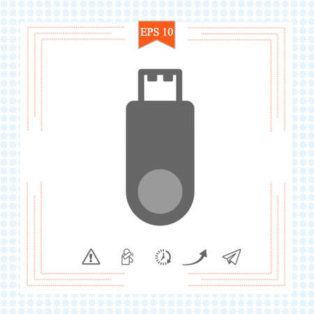 Flash, USB, Memory icon, stock vector. Graphic elements for your design eps10.