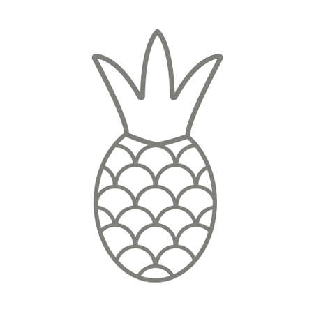 Pineapple symbol icon. Tropical exotic fruit simple line vector icon 免版税图像