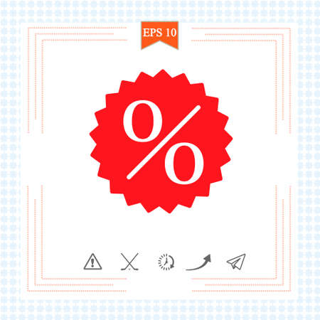 Sale icon isolated on white background. Vector illustration. Eps 10.