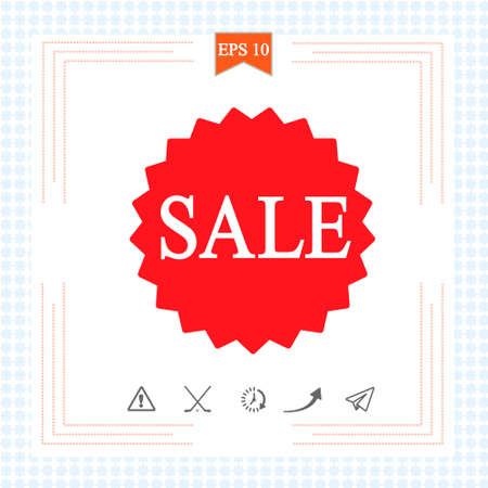 Sale icon  on white background. Vector illustration.  .