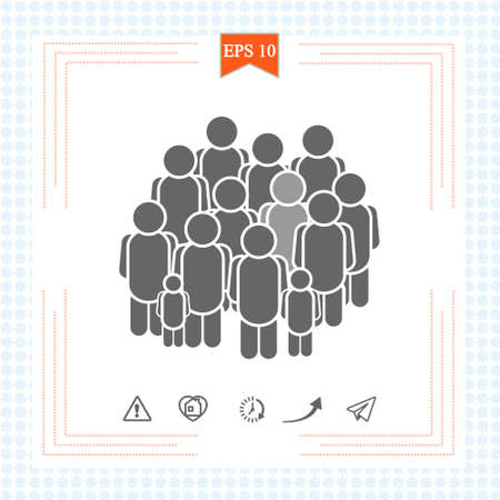 Group people line icon. Business conference sign. Personnel selection line icon. Team meeting symbol. Quality design element. Editable stroke. Linear style group people icon. Vector