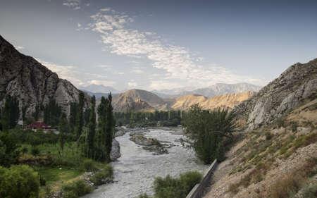 kyrgyzstan: mountains of Kyrgyzstan Foto de archivo