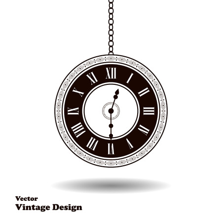 old timer: Vector vintage clock dial. Classic antique watch isolated. Ancient retro timer design. Traditional silhouette. Old graphic timer object design. Elegant sign