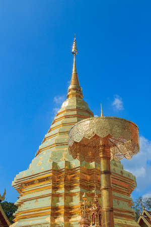 doi: Wat Phra Thad Doi Suthep Stock Photo