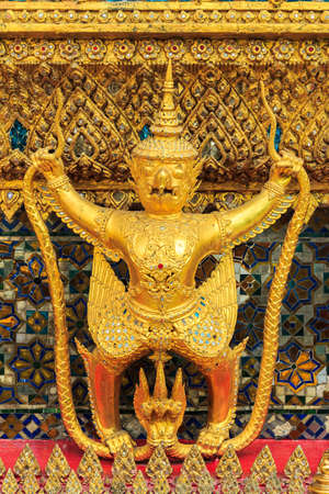 garuda: Golden Garuda Of Wat Phra Kaew In Bangkok, Thailand