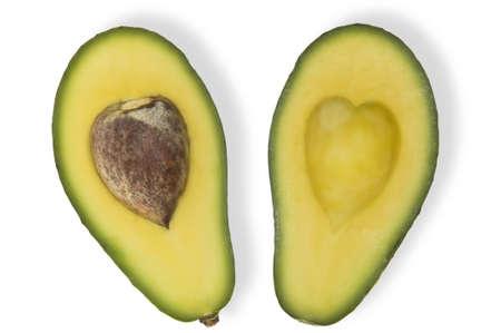 Avocado with love heart shape Stock Photo