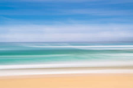 Abstract image of the beach on a bright sunny summer day  Stock Photo