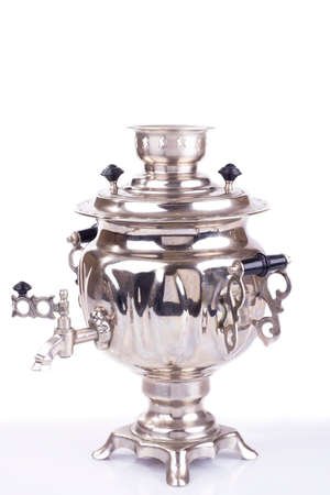 Traditional russian tea kettle - samovar photo