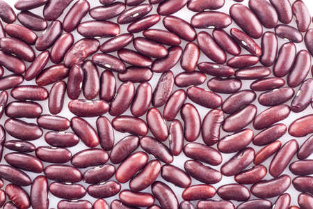 haricot: Haricot beans on white background Stock Photo