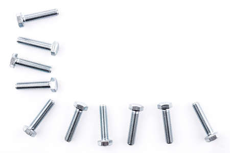 Screws isolated on white background photo