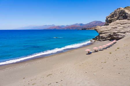 sandhills: St  Paul Sandhills secluded beach near Agios Pavlos in Crete island, Greece