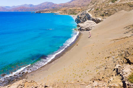 sandhills: St  Paul Sandhills secluded beach near Agios Pavlos in Crete island, Greece