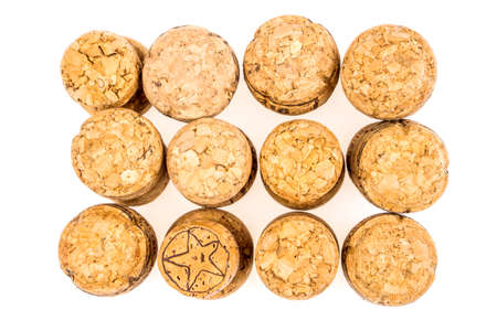 Champagne corks isolated on white