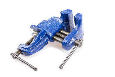 gripe: Close up of vice clamp isolated on white