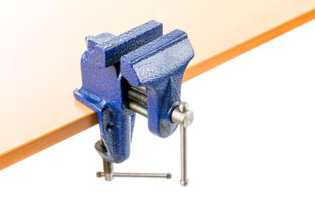 Vice clamp mounted on a bench