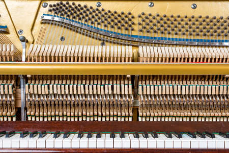 Keyboard and mechanics details of an upright piano Zdjęcie Seryjne