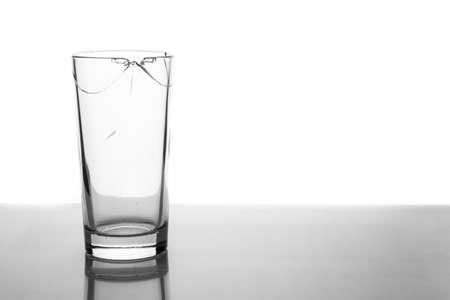 spall: Broken glass on white background
