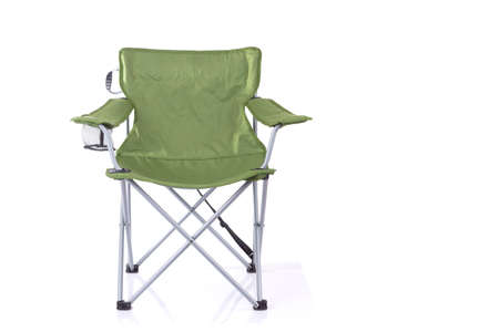 Tourist portable armchair isolated on white