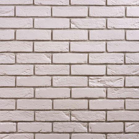 White brick seamless repeating wallpaper background pattern Standard-Bild