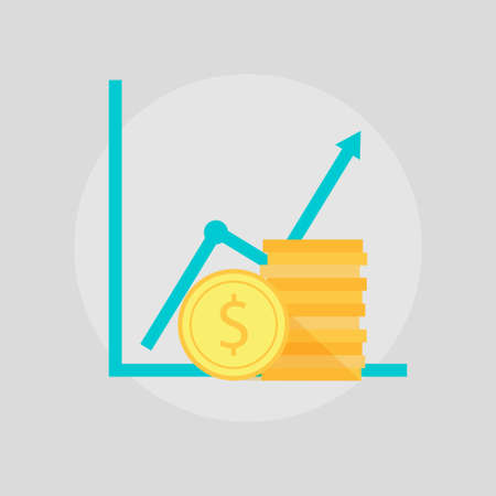 increment: Financial growth illustration. Financial growth icons. Financial growth sign design. Financial growth vector symbol. Illustration