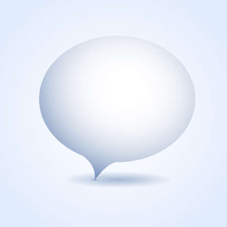 speech bubble vector: Blank speech bubble. Template spoken bubble. Volume speech bubble. Blue speech bubble. Vector speech balloon. Isolated thought bubble.
