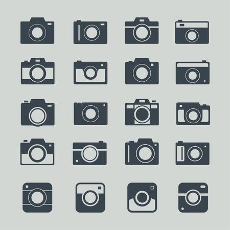 camera symbol: Camera icons. Camera icons on color background. Set of black icons cameras. Photo icon. Simple camera logo. Photo camera icons. Photography icon set. Vector camera symbol. Photography sign.