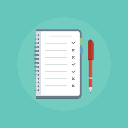 To do list concept. To do list icon. Design icon do list, a checklist, task list. To do list theme vector. Illustration Things to do in flat style. Reminder concept flat icon. To Do List with Check Marks.