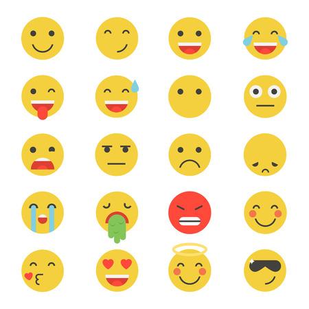 mood: Emoticon vector illustration. Emoticon set. Emoticon face on a white background. Emoticon icon. Different emotions collection. Emoticon flat design. Emoticon isolated. Illustration