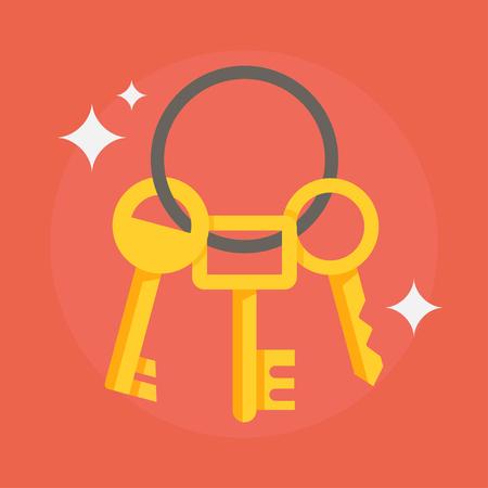unlocking: Keys vector illustration. Keys icon. Keys isolated on backround. Keys house image. Keys in flat style. Keys to apartment. Keys for locking and unlocking doors.