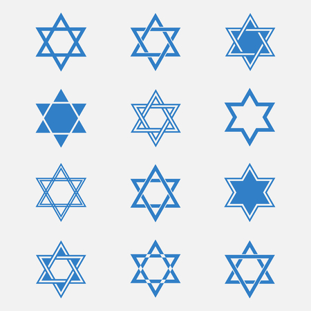 hexagram: Star of David set isolated from the background