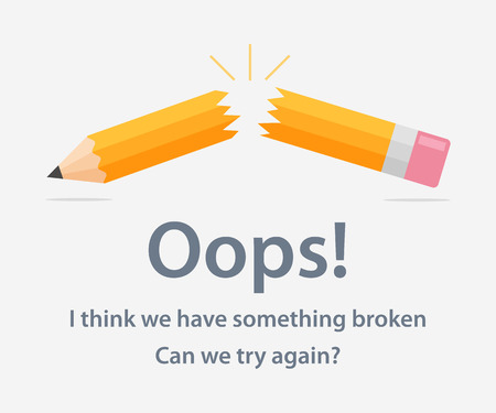 web site design template: Page template with a 404 error made in flat style. The page design of the web site with the error Page not found. Funny concept page with a 404 error.