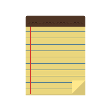 pocketbook: Icon paper notepad or pad line in the flat style. Blank notebook for to-do lists, notes and plans. Office and business equipment.