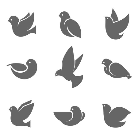 earth day: Dove grey silhouette, symbol of peace on earth, love or mail messenger concept, gentle, sweet and loving bird. Vector flat style illustration isolated on white background Illustration