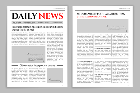 Newspaper template design.