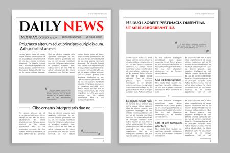 Projekt szablonu gazety. Ilustracje wektorowe
