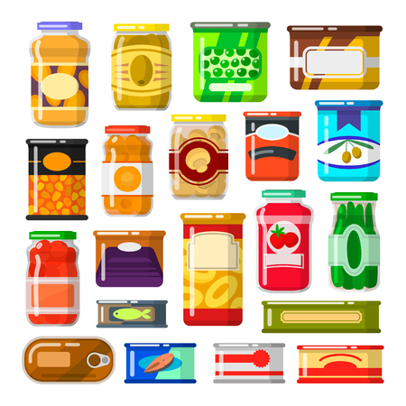 Canned goods set